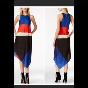 Rachel Roy color-blocked handkerchief dress M